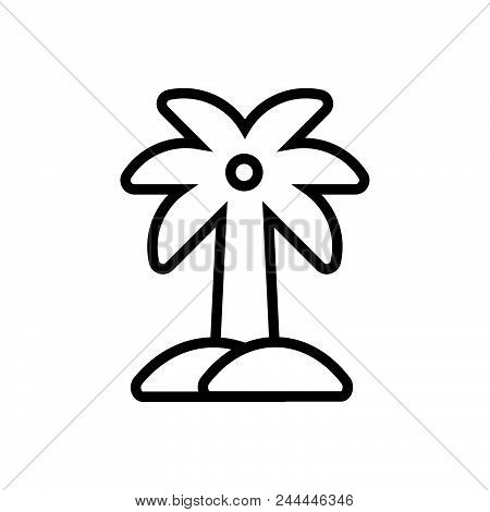 Palm Tree Vector Icon On White Background. Palm Tree Modern Icon For Graphic And Web Design. Palm Tr