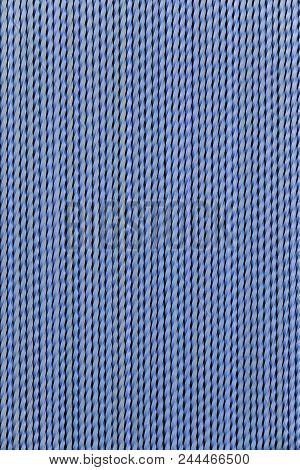 Protective Plastic Blue Curtain On A Door