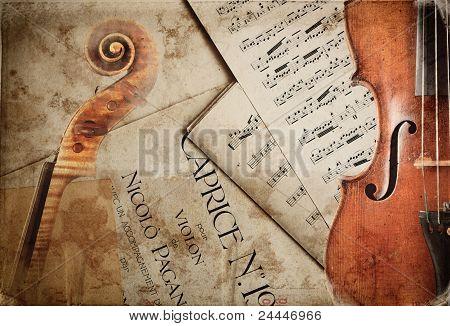 vintage sheet music for violin