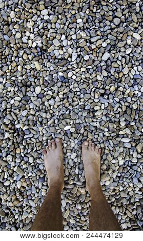 Barefoot Feet On A Stones