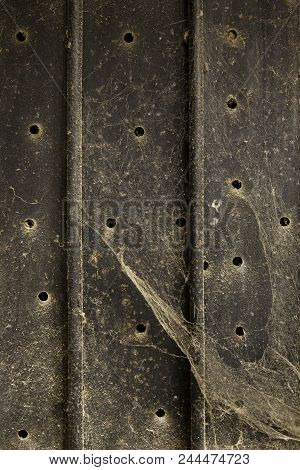 Grungy And Abandoned Wavy Metal Background