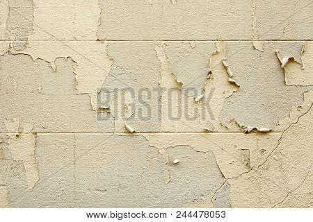 Old Peeling Painted Wall
