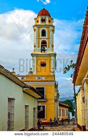 San Francisco De Asis Church Street View, Trinidad, Cuba