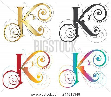 Letter K Alphabet Vector Photo Free Trial Bigstock
