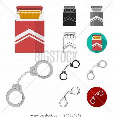 Drug Addiction And Attributes Cartoon, Black, Flat, Monochrome, Outline Icons In Set Collection For