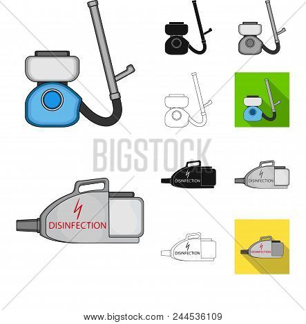 Pest, Poison, Personnel And Equipment Cartoon, Black, Flat, Monochrome, Outline Icons In Set Collect