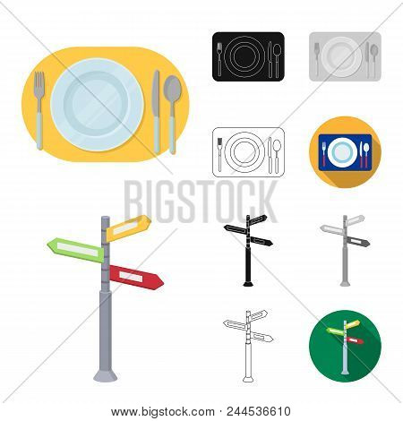 Rest And Travel Cartoon, Black, Flat, Monochrome, Outline Icons In Set Collection For Design. Transp