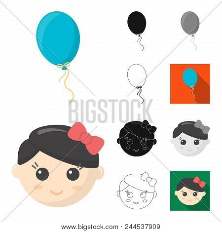 Children's Toy Cartoon,black,flat,monochrome,outline Icons In Set Collection For Design. Game And Ba