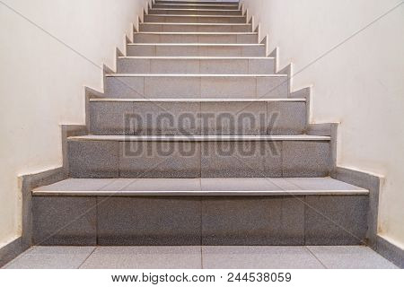 Stairs. Abstract Steps. Stairs In The City. Granite Stairs. Stone Stairway Often Seen On Monuments A