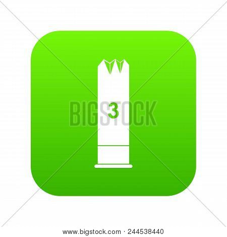 Expanding Bullets Icon Digital Green For Any Design Isolated On White Vector Illustration