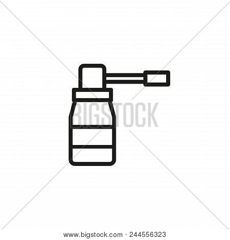 Cough Cold Spray Line Icon. Container, Treatment, Bronchial. Cold Concept. Vector Illustration Can B