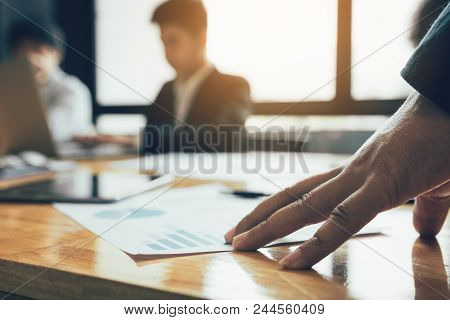 Manager Hand On The Table With Being Stressed About The Work Of The Staff.