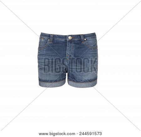 Jean  Shorts. Women Jeans Shorts Isolated On White Background.