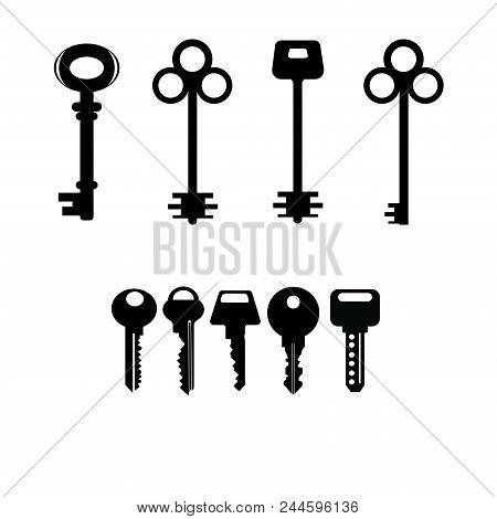Keys Vector Black  On White Background.keys For House