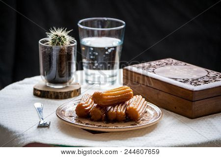 Tulumba Turkish Arabic Bosnian Sweets Dessert Water