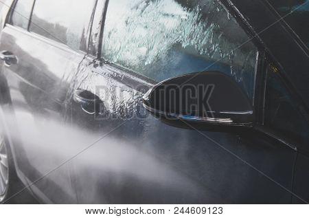 Car Wash At Automatic Car Wash Service.