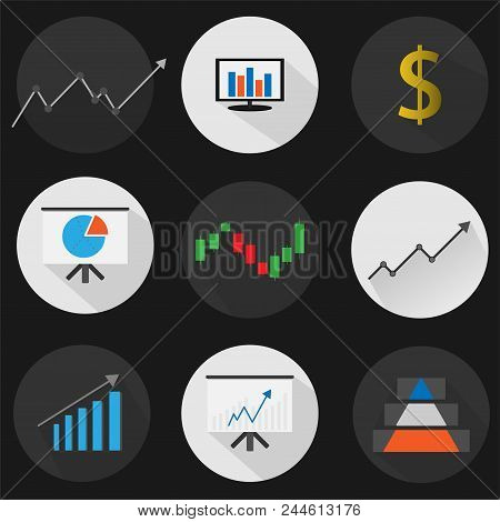 Set Flat Icon Finance