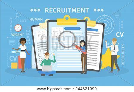 Recruitment Concept Illustration. Idea Of New Staff.
