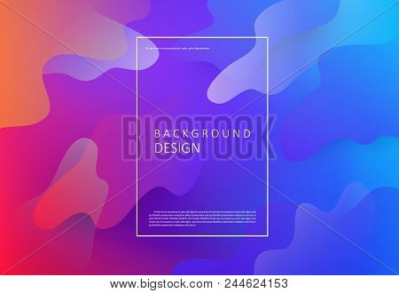 Colorful Geometric Background. Modern Pattern With Fluid Colors Abstract Composition. Eps10 Vector F