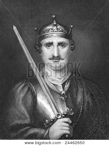 William the Conqueror (1027-1087). Engraved by Bocquet and published in the Catalogue of the Royal and Noble Authors, United Kingdom, 1806.