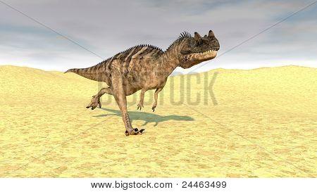 ceratosaurus in desert poster