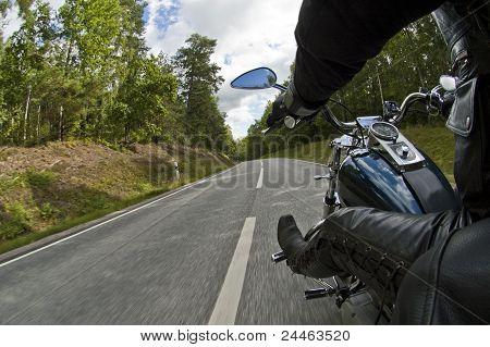 A man and a bike.