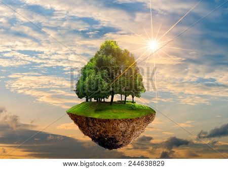 Floating Islands With Trees In The Sky World Environment Day World Conservation Day Environment