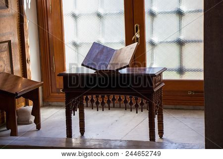 Ottoman Turkish Style  Wooden Lectern In A House