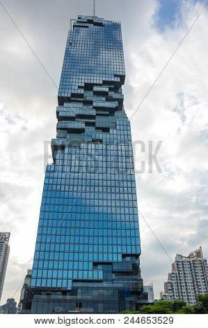 Bangkok, Thailand - January 26, 2017: View Of Mahanakhon (the Tallest Building In Thailand), A Mixed