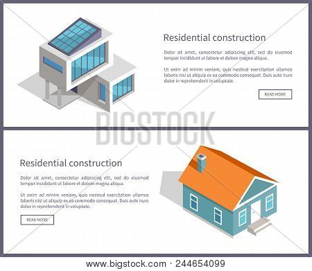 Residential Construction Web, Websites With Text Sample And Title, Residential Construction Of Moder