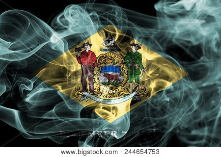 Delaware State Smoke Flag, United States Of America