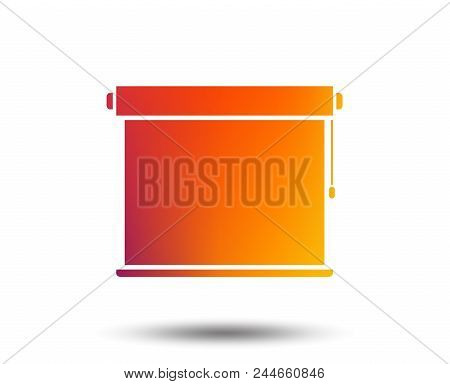 Louvers Rolls Sign Icon. Window Blinds Or Jalousie Symbol. Blurred Gradient Design Element. Vivid Gr