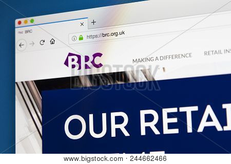London, Uk - May 17th 2018: The Homepage Of The Official Website For The British Retail Consortium -