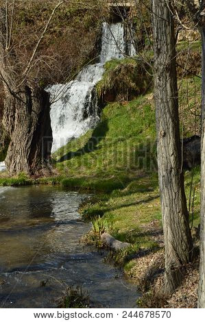 Beautiful Cascades Of The River Cifuentes To Its Pass By Trillo Leaving In The Tagus River. Nature,