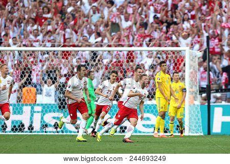 Marseille, France - June 21, 2016: Jakub Blaszczykowski Of Poland (#16) Reacts After Scored A Goal D