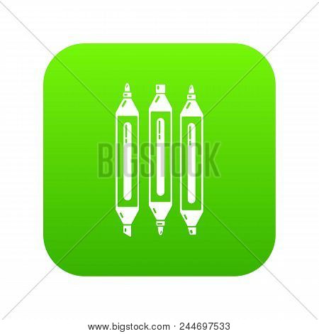 Marker Pen Icon. Simple Illustration Of Marker Pen Vector Icon For Web