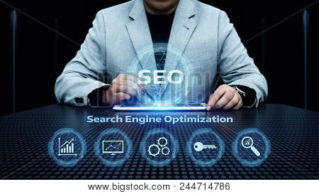 Seo Search Engine Optimization Marketing Ranking Traffic Website Internet Business Technology Concep