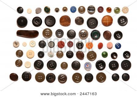 Many Buttons Isolated On White