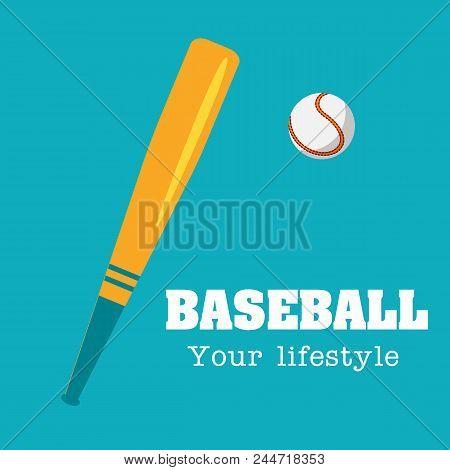 Baseball Your Lifestyle Baseball Background Vector Image