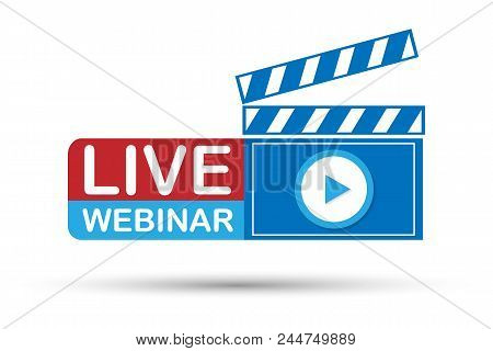 Live Webinar Button On White Background. Vector Stock Illustration.