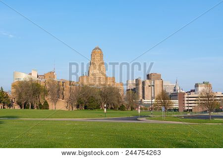 Day City Skyline Of Buffalo New York