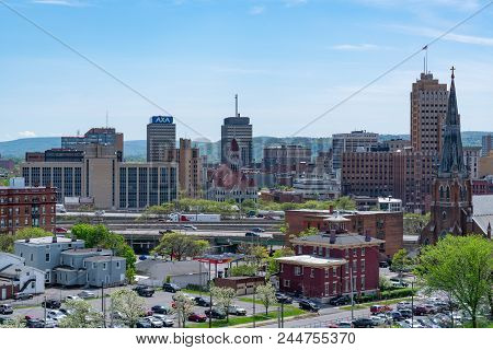 Syracuse, Ny - May 14, 2018:  Daytime Skyline Of Syracuse, New York
