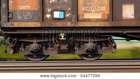 freight train on rails