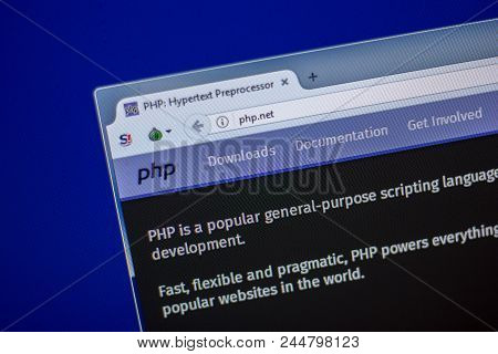 Ryazan, Russia - June 05, 2018: Homepage Of Php Website On The Display Of Pc, Url - Php.net