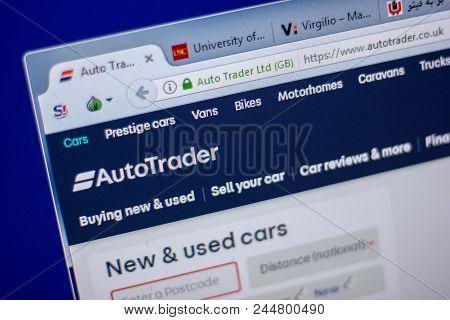 Ryazan, Russia - June 05, 2018: Homepage Of Autotrader Website On The Display Of Pc, Url - Autotrade