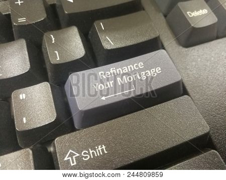 Mortgage refinance on keyboard button