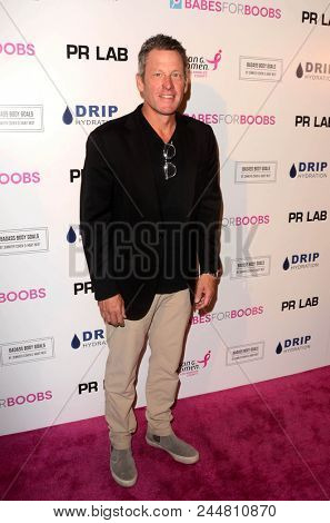 LOS ANGELES - JUN 7:  Lance Armstrong at the 4th Annual Babes for Boobs Live Bachelor Auction at the El Rey Theater on June 7, 2018 in Los Angeles, CA