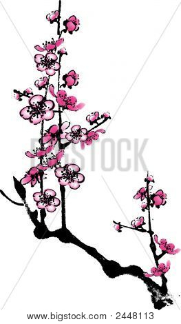 Plum Flower 3.Eps