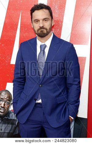 Jake Johnson at the Los Angeles premiere of 'Tag' held at the Regency Village Theatre in Westwood, USA on June 7, 2018.