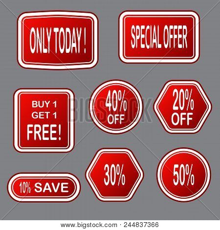 Sale  Banner. Sale Sticker.special Offer Sale Sticker In Flat Style. Discount Tag. Special Offer Ban